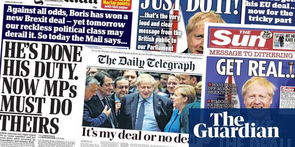My deal or no deal: what the papers say about Boris Johnsons Brexit plan