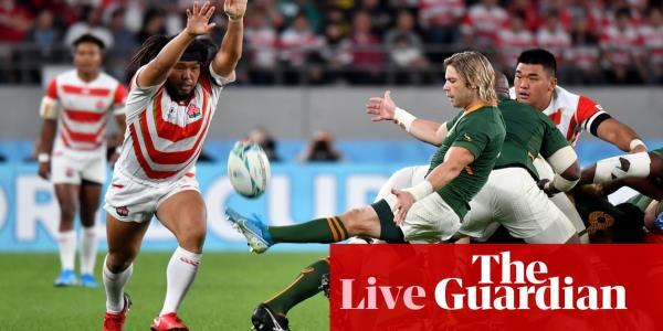 Japan v South Africa: Rugby World Cup 2019, quarter-final – live!
