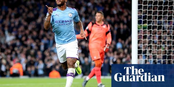 Sterling hat-trick helps 10-man Manchester City thrash Atalanta 5-1