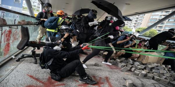 Protesters hit Hong Kong commute as western powers urge restraint