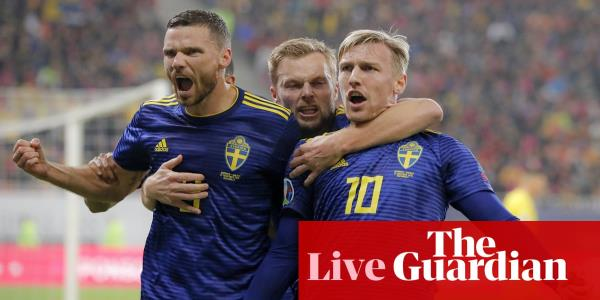 Euro 2020: Romania v Sweden, Finland seal qualification – live clockwatch!