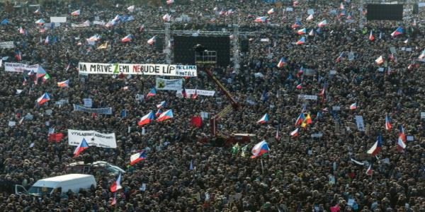 Huge Czech protest marking Velvet Revolution demands PM quit