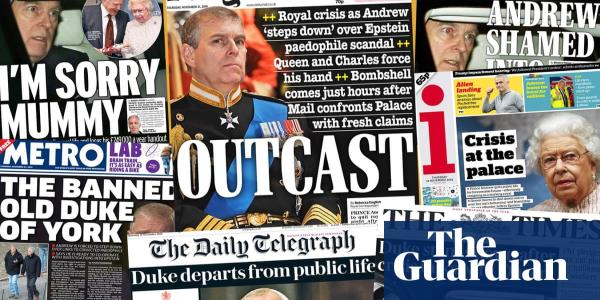 Outcast: how the newspapers covered Prince Andrews suspension of duties