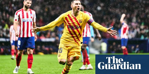 Lionel Messi's late winner sinks Atlético Madrid and puts Barcelona top