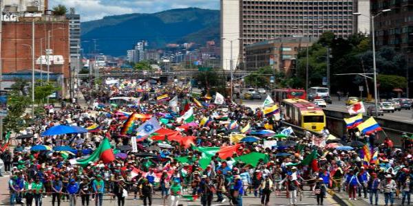 Colombia: thousands take to the streets in third national strike in two weeks