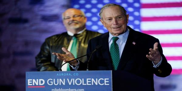Bloomberg says ending nationwide madness of gun violence drives his White House bid