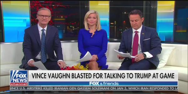 'Fox & Friends' Hosts Warn of Civil War Over Reaction to Vince Vaughn Meeting Trump