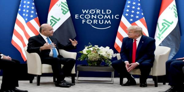 Iraq happy with U.S. troops, Trump says at talks over missions future