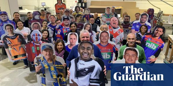 Fan in the stand: NRL fans can pay for cardboard cutouts of their faces to be put on stadium seats