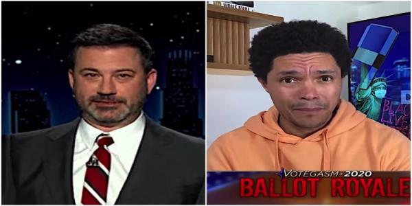 Trevor Noah and Jimmy Kimmel find some holes in Trumps evil plan to steal the election