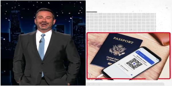 Jimmy Kimmel points out flaws in the GOPs anti-vaccine passport case, trawls Trumps new website