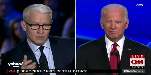Joe Biden at Democratic debate: My son did nothing wrong