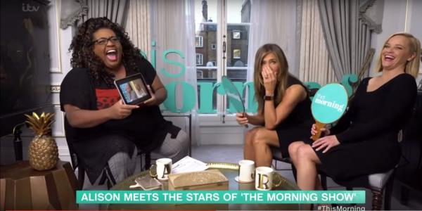 Jennifer Aniston And Reese Witherspoon Bemused By This Mornings Most Ridiculous Moments