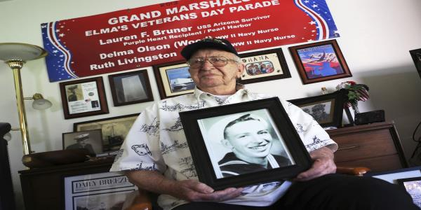 Pearl Harbor vet's interment to be last on sunken Arizona