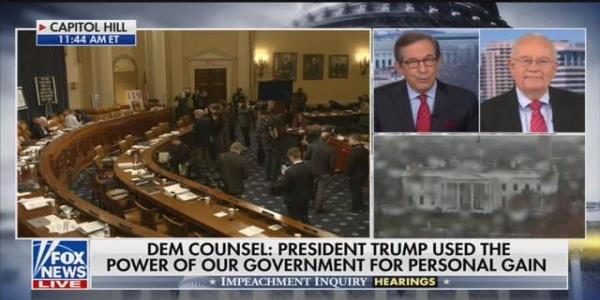 Chris Wallace Schools Ken Starr: Trump Impeachment 'Much Bigger' Than Clinton's Sex Lies Were