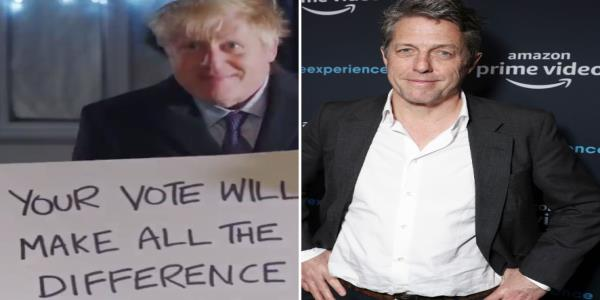 Hugh Grant Gives Withering Response To Boris Johnsons Love Actually-Inspired Campaign Video
