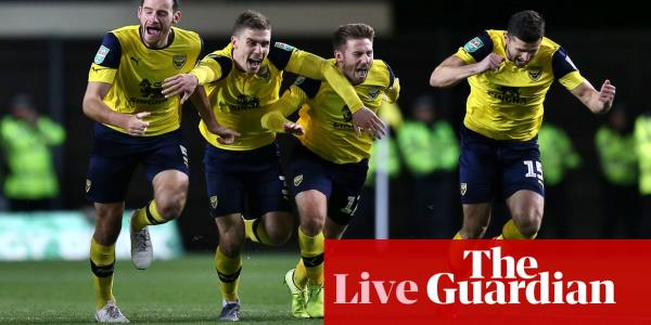 Oxford United v Manchester City: Carabao Cup quarter-final – live!