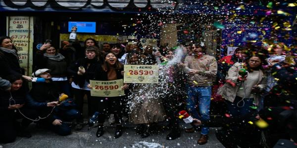 Winners of worlds richest lottery El Gordo celebrate