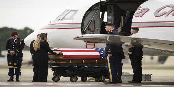 Remains of fallen US soldier returned to Fort Bragg