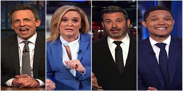 Late night hosts try to find some humor in Trumps newly unleashed, vindictive banana republicanism