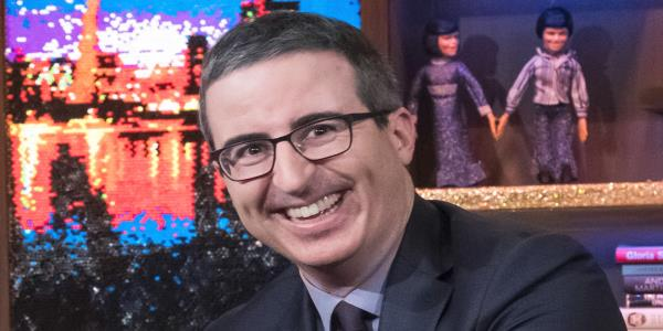 John Oliver nearly burst into tears while voting for the first time as a U.S. citizen