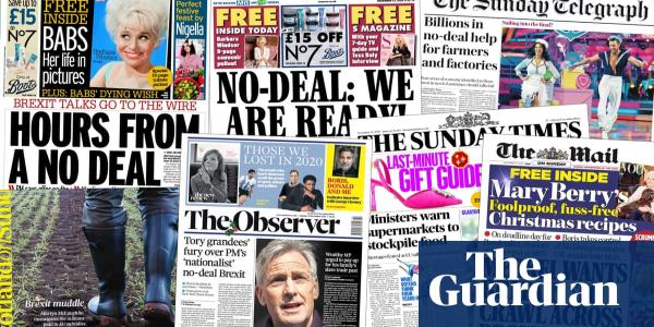 Bailouts, blame and broken glass: UK papers paint grim picture of possible no-deal Brexit