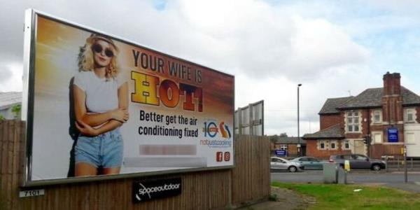 Your Wife Is Hot Advert Has Been Banned From Buses – But Its Still On Billboards