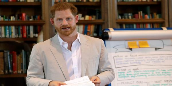 Prince Harry warns that buying vegetables wrapped in plastic is a dirty habit