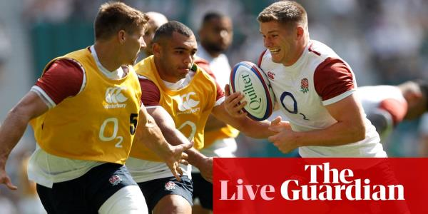 England v Ireland: Rugby World Cup warm-up – live!