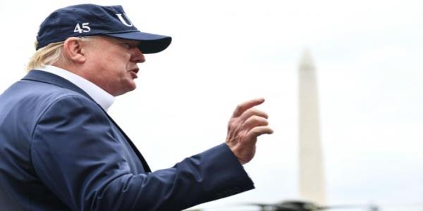 Trump news – live: President claims never to have heard of Category 5 storm as London mayor brands him global poster boy for white nationalism