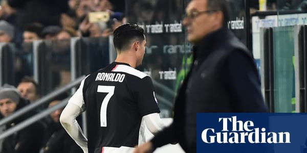 Cristiano Ronaldo angered by substitution in Juventus win over Milan
