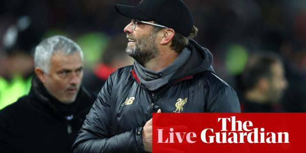 Mourinho welcomed back by Klopp and Guardiola: Premier League news and more – live!