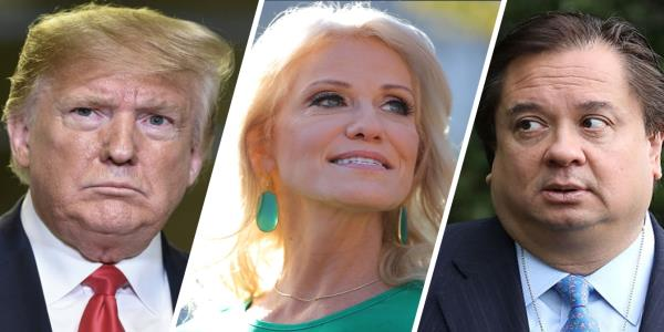 Trump says Kellyanne must have done some bad things to George Conway