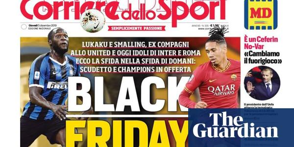 Smalling and Lukaku hit out at Corriere dello Sport Black Friday front page