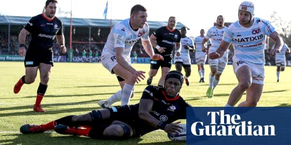 Relegated Saracens edge out Racing 92 to reach Champions Cup quarter-finals
