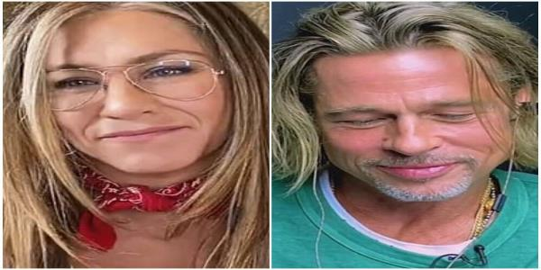 Brad Pitt And Jennifer Aniston Reunite - And Things Got Flirty