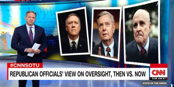 Jake Tapper Exposes Pompeo, Graham and Giuliani's 'Stunning' Hypocrisy
