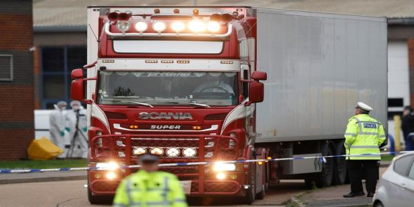Driver arrested after 39 found dead in truck near London
