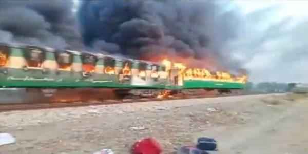 Pakistan Train Fire: At Least 65 People Killed After Cooking Stoves Explode