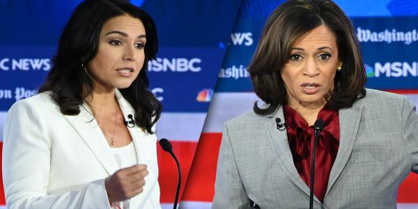 Gabbard and Harris clash over visions for the Democratic Party