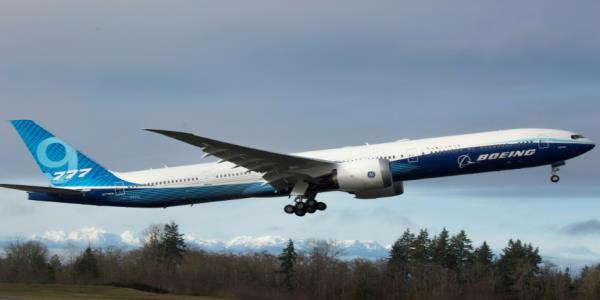 Boeings new 777X airliner makes first flight