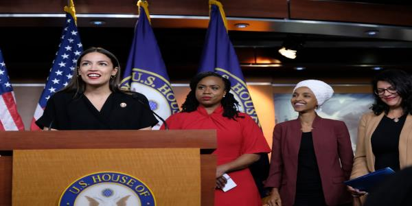 AOC Laughs Off Trump's Suggestion She's Jealous of Squad Sisters