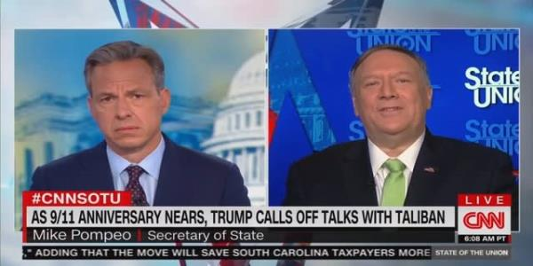CNN's Tapper to Mike Pompeo: Wouldn't You Be Mad If a Democrat Invited the Taliban to Camp David?