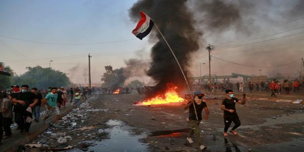 The Latest: Iraq Parliament speaker says he supports demands