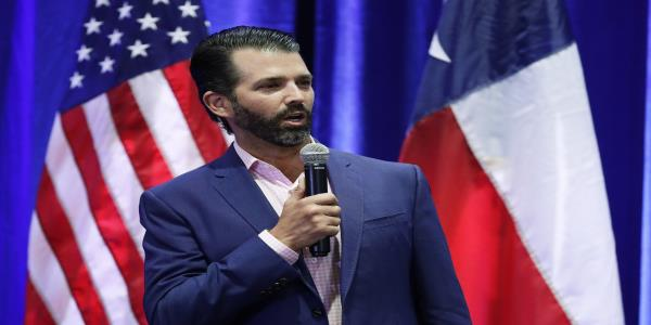 Donald Trump Jr. talk marked by anger over no Q&A