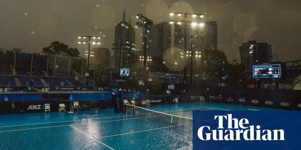 Storm brings relief to Australian Open but cannot stop tempers flaring