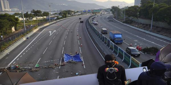 The Latest: Hong Kong highway blocked after deadline passes