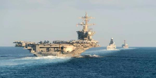 US aircraft carrier transits Strait of Hormuz